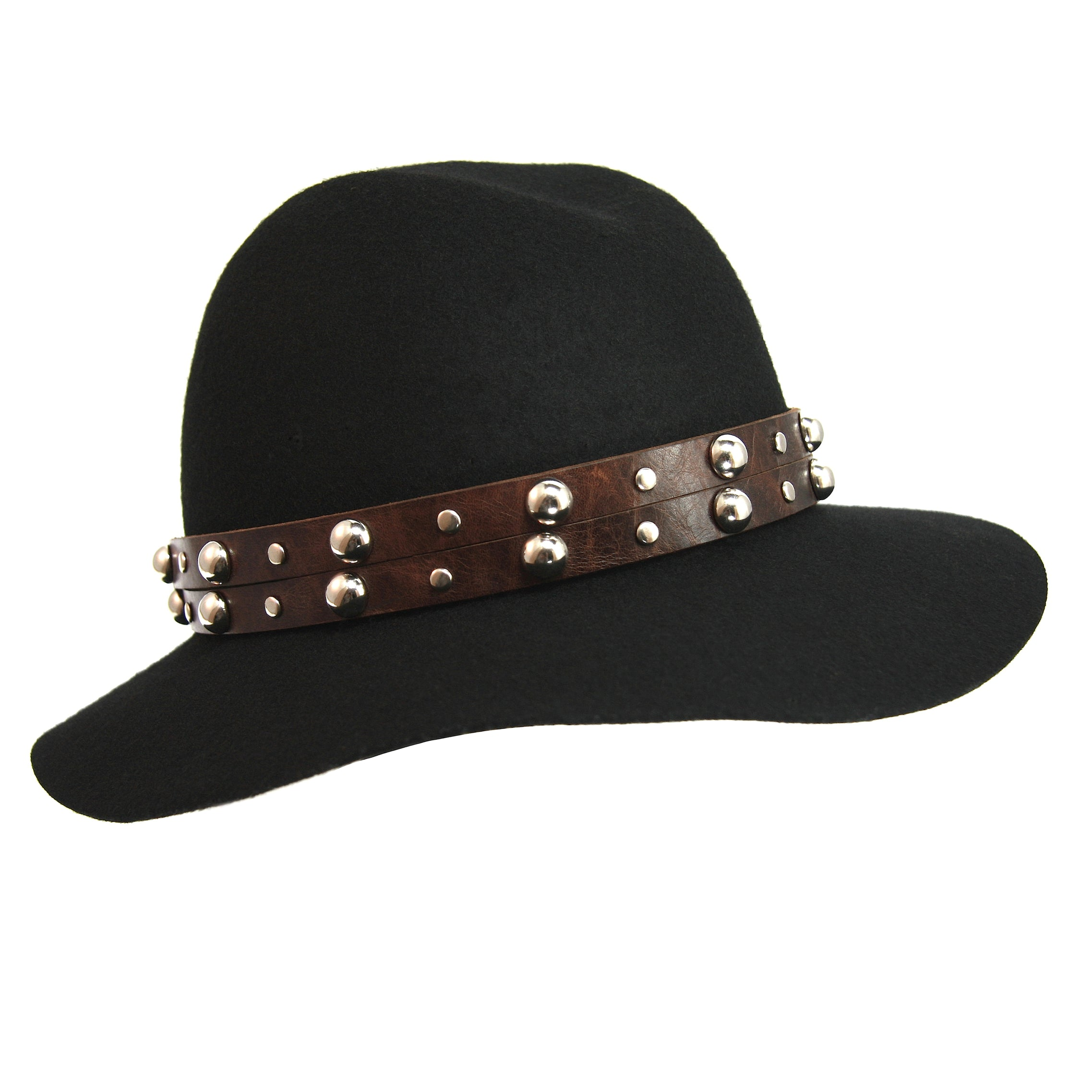 e35f2e09d6a Dark Brown Large Studded Hat Band – Fonda James