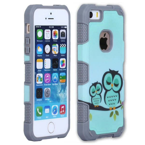 iPhone SE 5S Case 3-in-1 Impact Hard & Soft