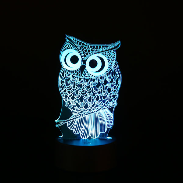 Cute Owl USB Touch Night Lights