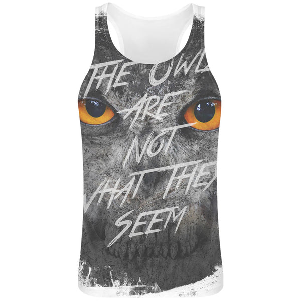 The Owls Sublimation Tank Top T-Shirt For Men