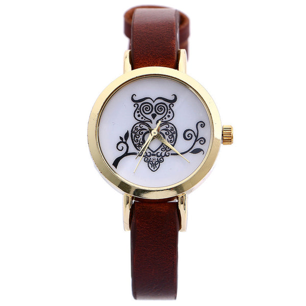 Women Retor Owl Watch