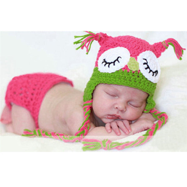 Newborn Crochet Outfits Hat & Pants