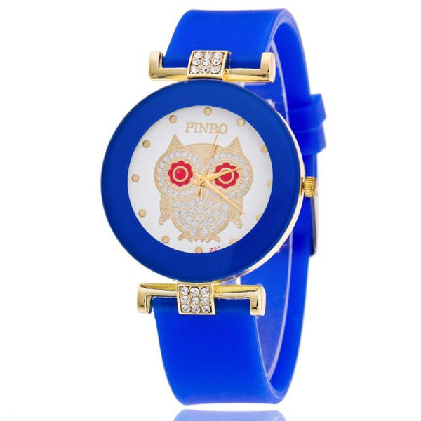 Women Owl Silicone Watch
