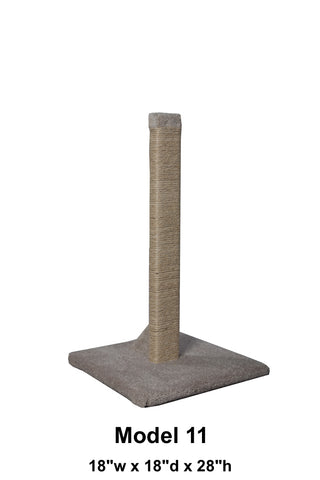 "Model 11 -28"" Sisal Rope Scratching Post"