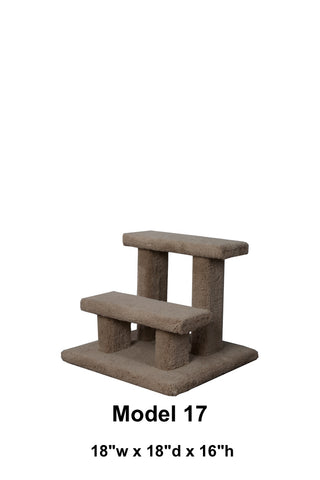 "Model 17 - 16"" Tall Pet Stairs"