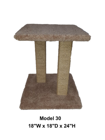 Model 30 - 2' Tall Sisal Rope Cat Scratch Platform