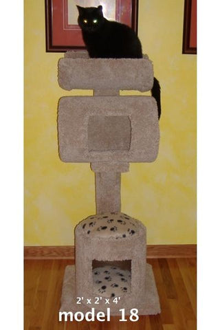 Model 18 - 4' Tall Cat Tree With Condo