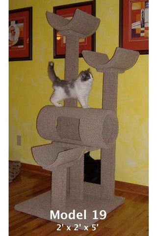 Model 19 - 5' Tall Multi-Level Cat Tree.