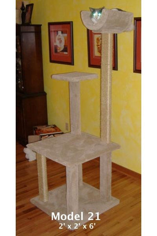 Model 21 - 6' Cat Tree With Sisal Rope