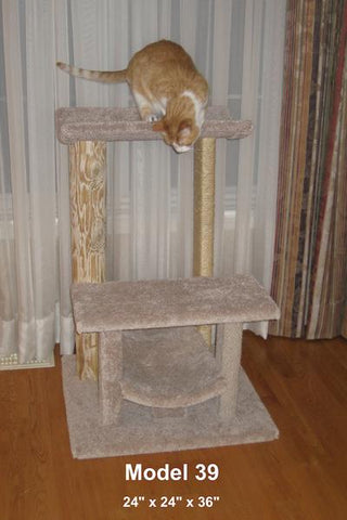 Model 39 - 3' Tall Multi-Surface Cat Tree