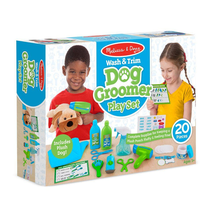 Melissa & Doug Wash & Trim Dog Groomer Play Set