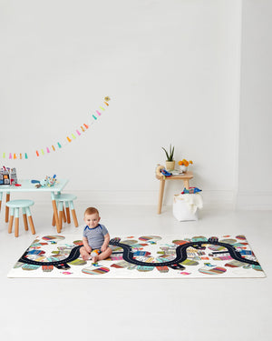 Skip Hop Doubleplay Reversible Playmat Vibrant Village