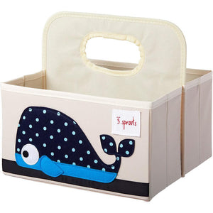3 Sprouts Diaper Caddy Whale