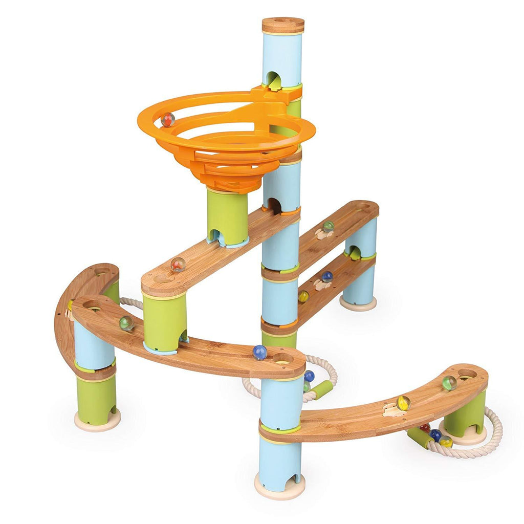 Fat Brain Toys Bamboo Builder Marble Run (119 pieces)