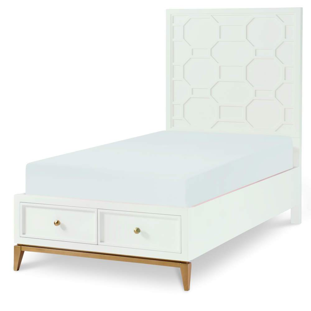 Legacy Classic Kids Chelsea by Rachel Ray Panel Twin Bed with Storage Footboard