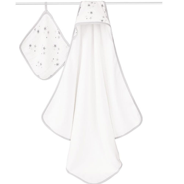 aden+anais Hooded Towel & Washcloth Set Twinkle