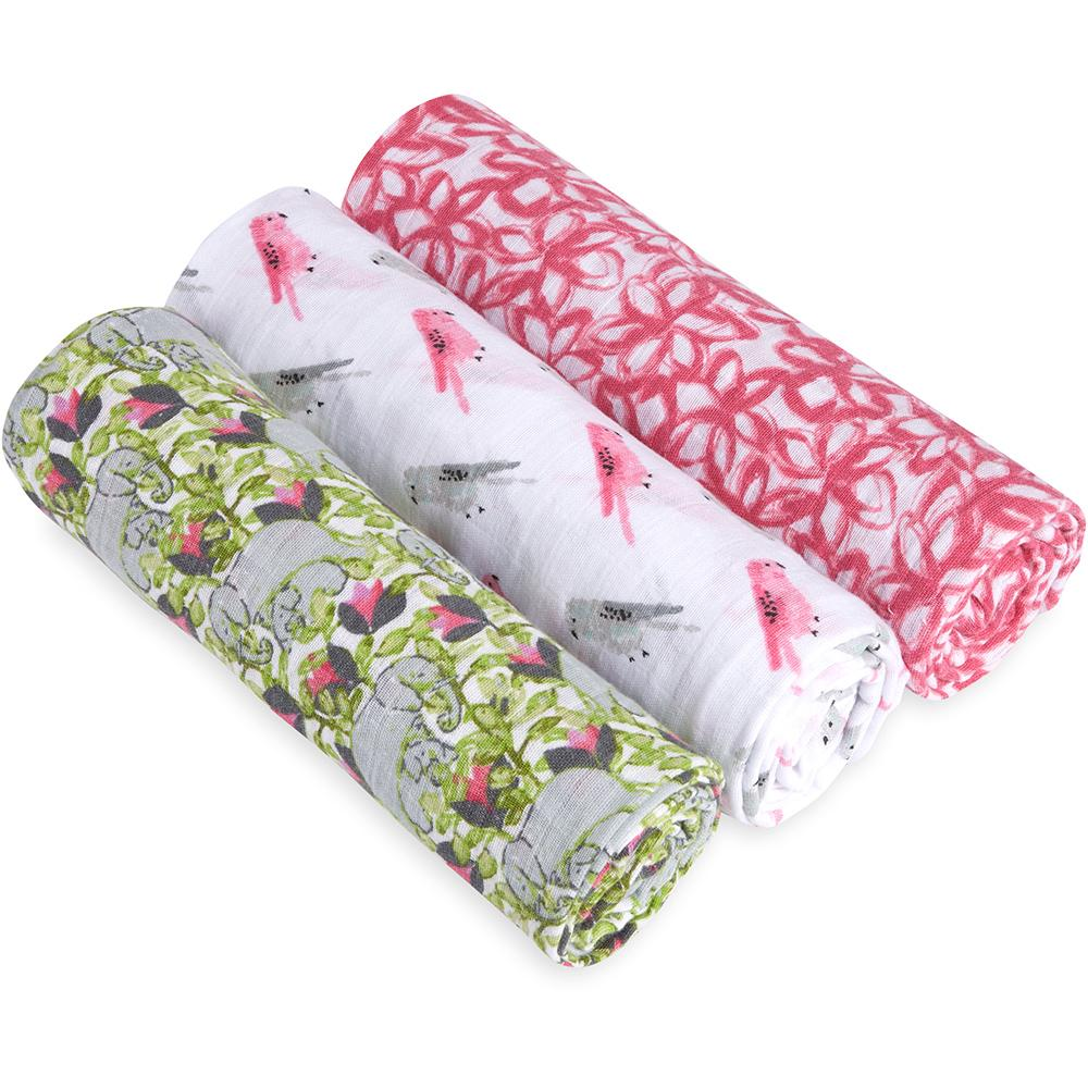 aden+anais White Label Swaddle 3-Pack
