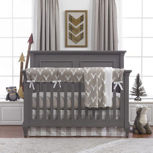 Liz & Roo Buck Woodland Bumperless Crib Bedding