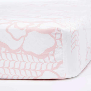 Oilo Capri Crib Sheet Blush