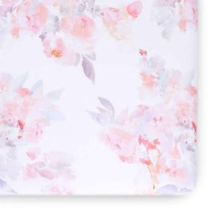 Oilo Prim Jersey Crib Sheet Blush