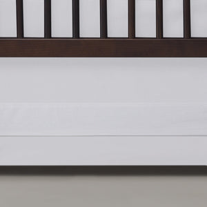 Oilo Solid Crib Skirt White