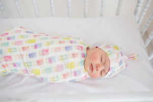 Copper Pearl Knit Swaddle Blanket - Summer