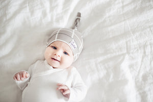 Copper Pearl Newborn Top Knot Hat - Midway