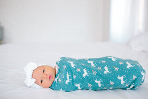 Copper Pearl Knit Swaddle Blanket - Whimsy