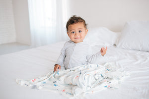 Copper Pearl Knit Swaddle Blanket - Newport