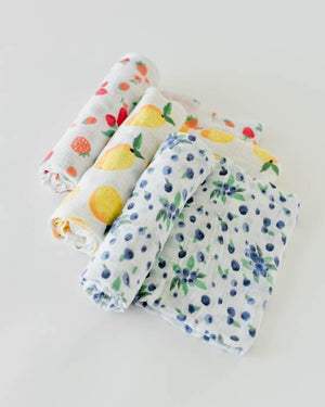 Little Unicorn Cotton Muslin Swaddle Set