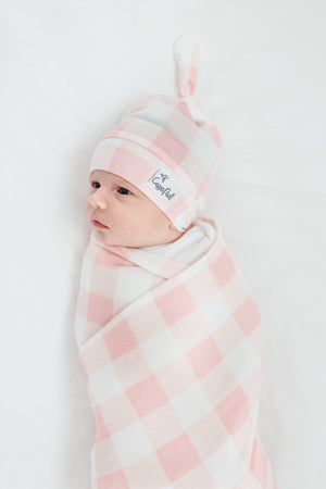 Copper Pearl Knit Swaddle Blanket - London