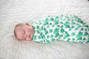 Copper Pearl Knit Swaddle Blanket - Forest