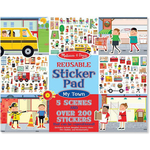 Melissa & Doug Reusable Sticker Pad My Town