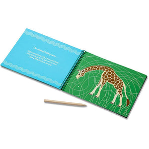 Melissa & Doug On-The-Go Scratch Art Hidden Pictures Pad Safari Animals
