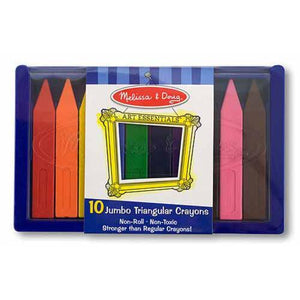Melissa & Doug Jumbo Triangular Crayons 10 pc