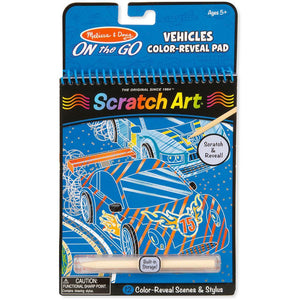 Melissa & Doug On-The-Go Scratch Art Color-Reveal Pad Vehicles
