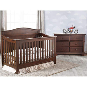 Pali Napoli Curve-Top Forever Crib + Double Dresser Set