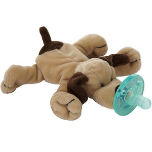 Wubbanub Pacifier Brown Puppy