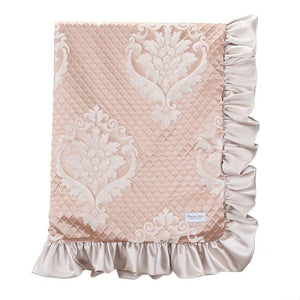 Glenna Jean Angelica 3-Piece Bedding Set (Includes quilt, champagne sheet & crib skirt)
