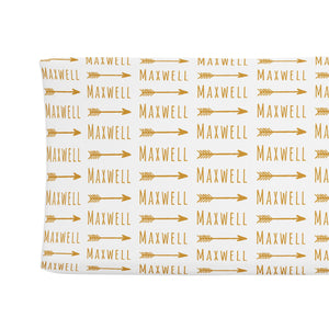 Sugar + Maple Changing Pad Cover - Arrow