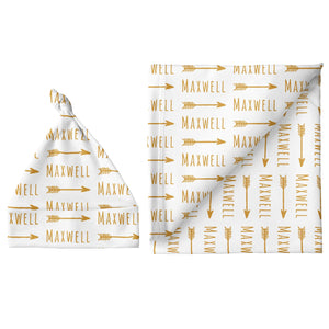 Sugar + Maple Large Blanket & Hat Set - Arrow