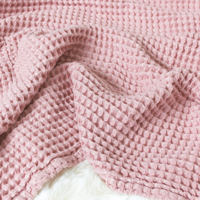 Sugar + Maple Honeycomb Blanket - Blush Pink