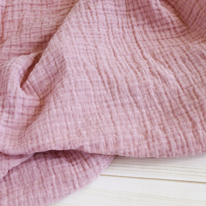 Sugar + Maple Classic Muslin Swaddle - Blush Pink