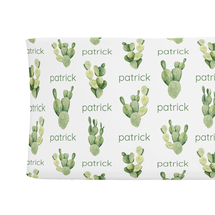 Sugar + Maple Changing Pad Cover - Cactus