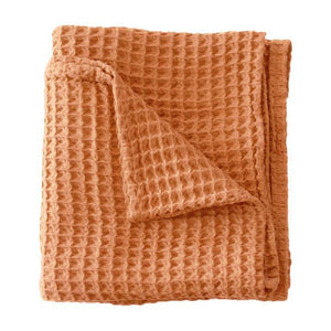 Sugar + Maple Honeycomb Blanket-Copper