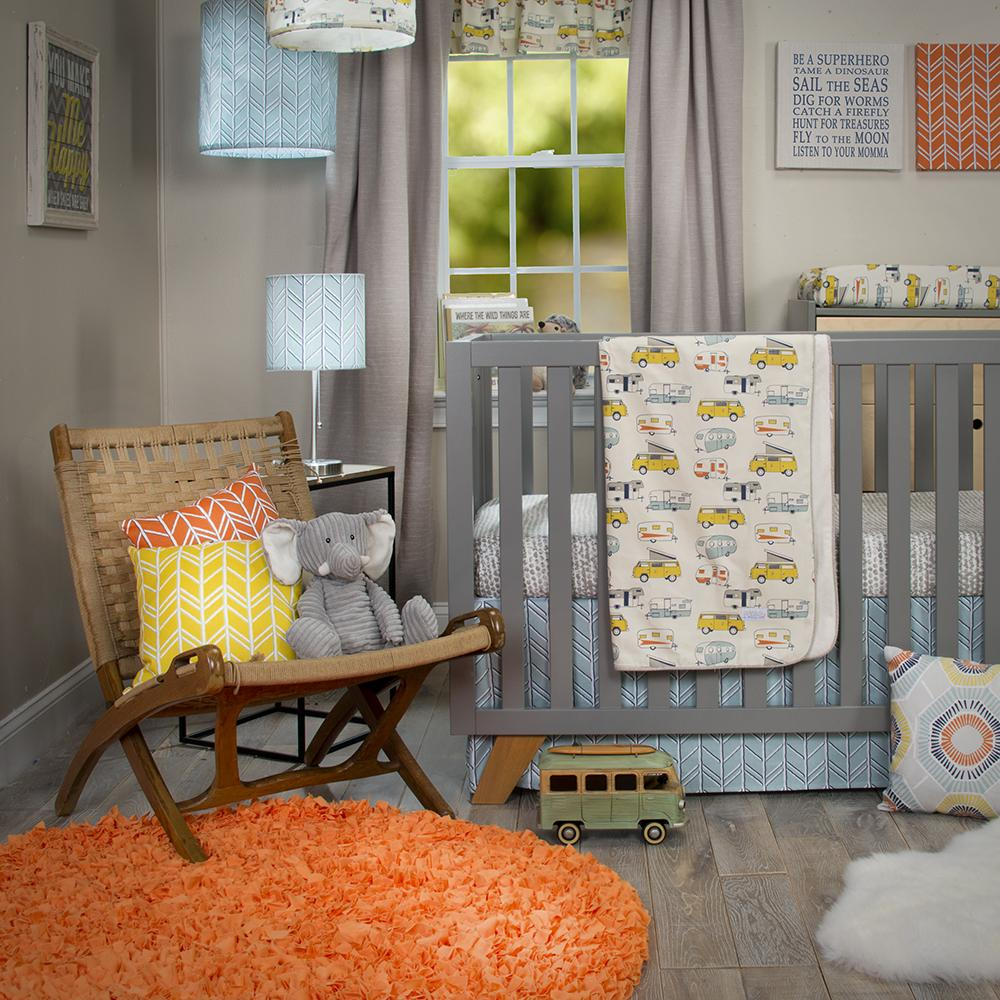 Glenna Jean Happy Camper 3-Piece Bedding Set (Includes quilt, dot sheet & crib skirt)