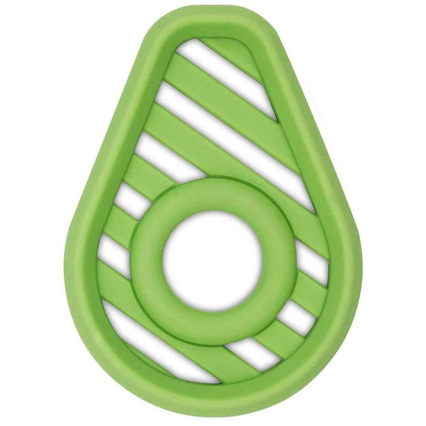Itzy Ritzy Teething Happens Silicone Teether Avocado