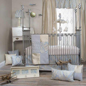 Glenna Jean Little Prince 3-Piece Bedding Set (Includes quilt, sateen sheet & crib skirt)