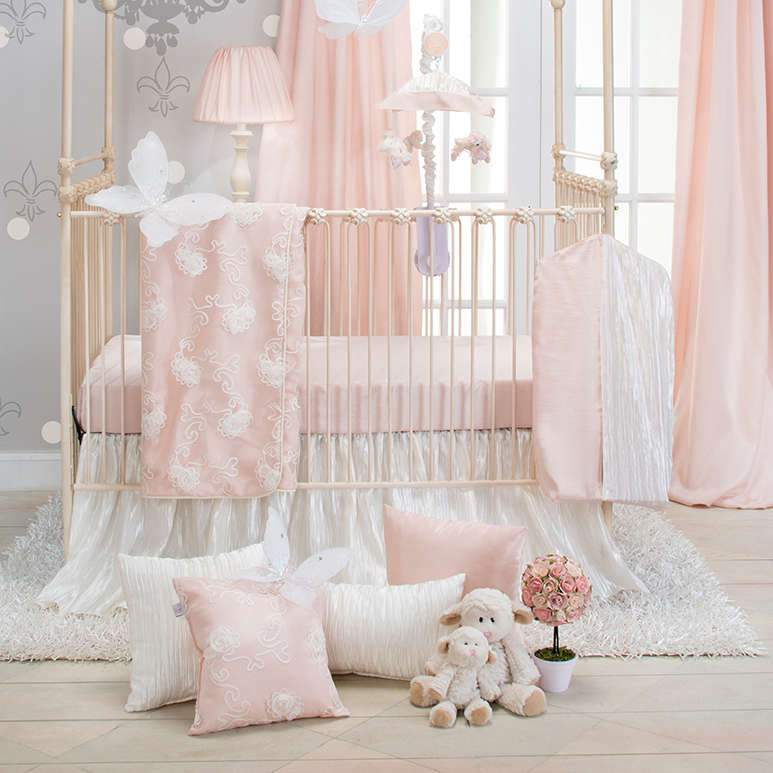Glenna Jean Little Princess 3-Piece Bedding Set (Includes quilt, pink sheet and crib skirt)