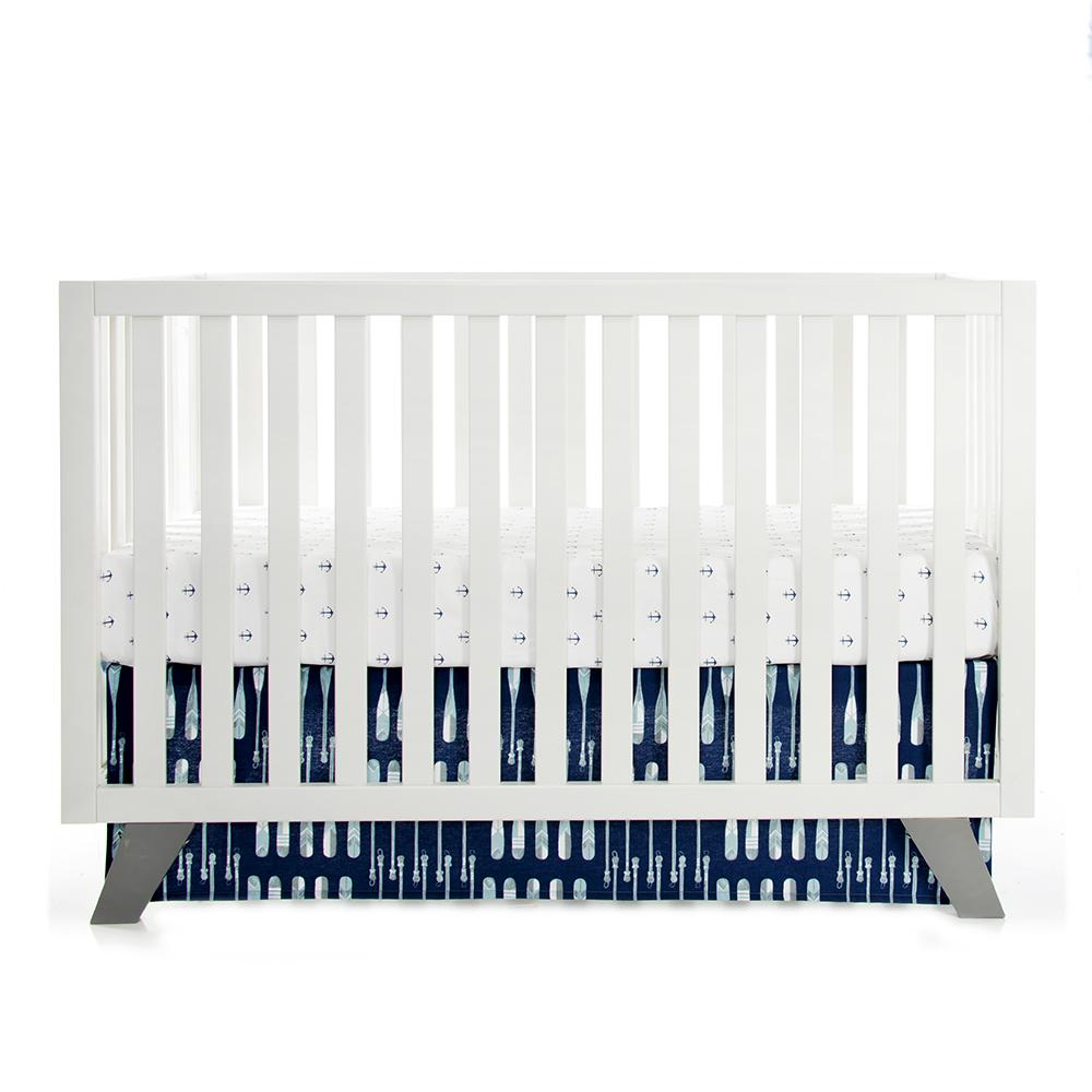Glenna Jean Little Sailboat 2-Piece Starter Bedding Set (Includes mini anchor sheet & crib skirt)